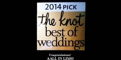 Aall In Limo Won the 2014 Pick of The Knot Best of Weddings